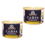 Сайра Акватория натуральная с добавлением масла, 2шт  х  240г