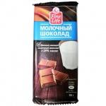 Шоколад Fine Life молочный, 5штх90г