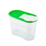 Банка для сыпучих продуктов Полимербыт Люкс 1.1л, пластик, с плотно прилегающей крышкой с дозатором