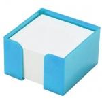 Подставка для бумажного блока Оскол-Пласт голубая, 9х9х5см, пластик