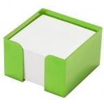 Подставка для бумажного блока Оскол-Пласт зеленая, 9х9х5см, пластик