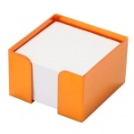 Подставка для бумажного блока Оскол-Пласт оранжевая, 9х9х5см, пластик