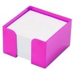 Подставка для бумажного блока Оскол-Пласт розовая, 9х9х5см, пластик