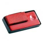 Штемпельная настольная подушка Reiner для Reiner B6/В6К, красная, краска на водной основе
