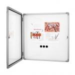 Доска-витрина Magnetoplan SP 1215300, белая, лаковая, магнитная маркерная, алюминиевая рама, интерьерная