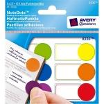 Этикетки маркеры Avery Zweckform 8330, разноцветные, 51х19мм, 6 цветов, 25 листов, 150шт, с полем для заметок