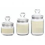 Набор банок для сыпучих продуктов Luminark 1л+0.75л+0.5л, стекло, с плотно прилегающей крышкой, 3шт/уп