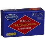 Масло сливочное Экомилк Традиционное 82.5%, 450г