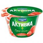 Йогурт Активиа клубника и земляника, 2.4%, 210г