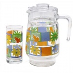 Питьевой набор Luminarc кувшин и 6 стаканов, 1.6л