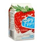 Йогурт питьевой Фругурт клубника, 1.5%, 475г