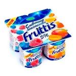 Йогурт Fruttis Сливочное лакомство, 5%, 115г, малина-черника,  абрикос-манго