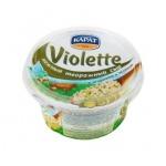 Сыр творожный Violette 70% с огурцами и зеленью, 140г