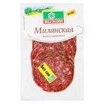 Колбаса Велком Миланская сырокопченая, 150г, нарезка