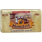 Масло сливочное Hansdorf 82.5%, 180 г, несоленое