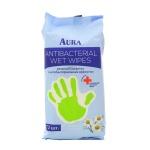 Салфетки влажные Aura антибактериальные, 72 шт