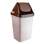 Контейнер для мусора М-Пластика Свинг 50л, с качающейся крышкой