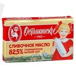 Масло сливочное Останкинский 82.5%, 180г, 82,5%/400г