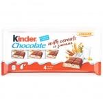 Шоколад Kinder молочный со злаками, 23.5г х 4шт