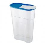 Банка для сыпучих продуктов Полимербыт Люкс 2.3л, пластик, с плотно прилегающей крышкой с дозатором