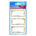 Этикетки самоклеящиеся Avery Zweckform Z-Desing 52622, звездочки, 76х120мм, 3шт на листе, 2 листа, 6шт, надписи от руки