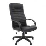 Кресло руководителя Chairman 480LT иск. кожа, крестовина хром, чёрное