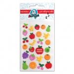 Наклейки декоративные детские Липуня Зефирные фрукты