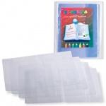Обложка для учебника Дпс 120мкм, 27х42см, прозрачная, 5шт