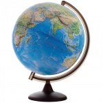 Глобус ландшафтный Глобусный Мир 32см, на круглой подставке, рельефный, 10242