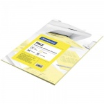 Цветная бумага для принтера Office Space pale желтая, А4, 500 листов, 80 г/м2