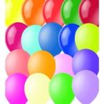 Воздушные шары Поиск ассорти, 23см, 100шт