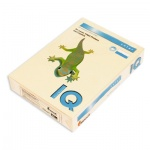Цветная бумага для принтера Iq Color кремовая, А4, CR20, 80г/м2, 100 листов