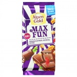 Шоколад Alpen Gold Max Fun взрывная карамель-мармелад-печенье, 160г
