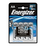 Батарейка Energizer Ultimate Lithium AA/LR6, 1.5В, литиевая, 4шт/уп