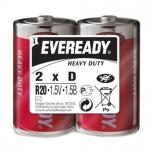 Батарейка Energizer Heavy Duty D, солевая, 2шт/уп