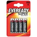 Батарейка Energizer Everyday Super Heavy Duty AA/LR6, 1.5В, солевая, 4шт/уп