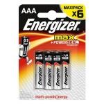 Батарейка Energizer Max ААА/LR03, 1.5В, алкалиновая, 6шт/уп