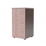 Шкаф-колонка Skyland Xten XLC 42.1, левый, 432х452х820мм, с глухой малой дверью, с топом, дуб сонома/рено