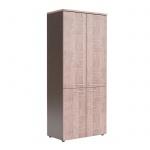 Шкаф Skyland Xten XHC 85.3, дуб сонома/рено, 856х452х1955мм, с глухими средними и малыми дверьми