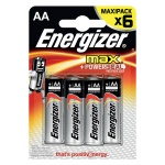 Батарейка Energizer Max АА/LR6, 1.5В, алкалиновая, 6шт/уп