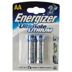 Батарейка Energizer Ultimate Lithium AA/LR6, 1.5В, литиевая, 2шт/уп