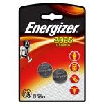 Батарейка Energizer CR2025, литиевая, 2шт/уп
