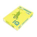 Цветная бумага для принтера Iq Color желтый неон, А4, 80г/м2, NEOGB, 500 листов