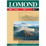 Фотобумага для струйных принтеров Lomond А3, 50 листов, 230 г/м2, глянцевая, односторонняя, 102025