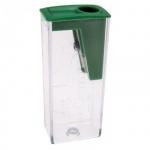 Точилка Faber-Castell 1 отверстие, с контейнером, зеленая, 582425