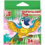 Набор восковых карандашей Луч Zoo 24 цветов, шестигранные