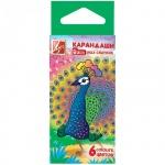 Набор восковых карандашей Луч Zoo 6 цветов, шестигранные