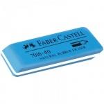 Ластик Faber-Castell Latex Free 7016 50*19*8 мм, синий, каучук, для карандаша и ручки, 181640