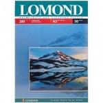 Фотобумага для струйных принтеров Lomond А3, 50 листов, 200 г/м2, глянцевая, односторонняя, 102024