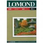 Фотобумага для струйных принтеров Lomond А4, 50 листов, 240г/м2, глянцевая, односторонняя, 102135
